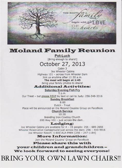 family reunion letter template 12 months in view hospitality family reunion
