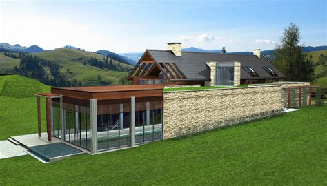 modern house in country modern country house 3d model buy modern country house
