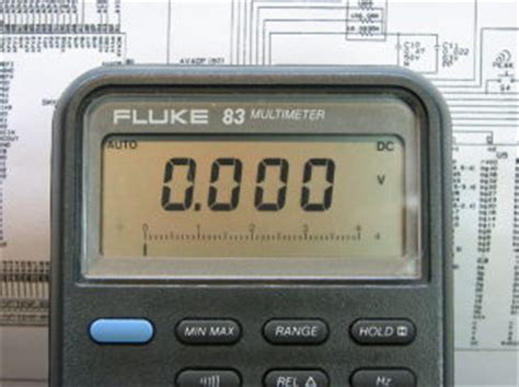 Multimeter Fluke 83 fluke 83v service manual