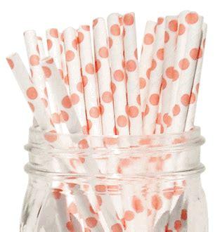 50pcs Box Souvenir Ultah T1606 Polkadot Pink polka dot paper straws 50pcs light pink