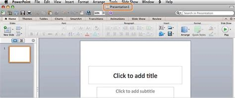 Create New Blank Presentation In Powerpoint 2011 For Mac Free Powerpoint Templates Powerpoint Templates For Mac 2011