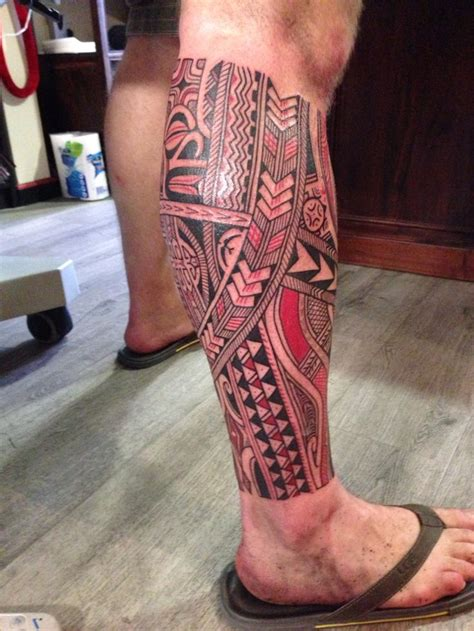 calf tattoos tribal at last my polynesian maori