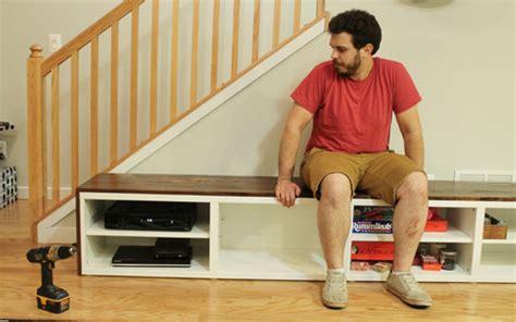 diy tv bench interior design loft bedroom how to make a tv stand diy