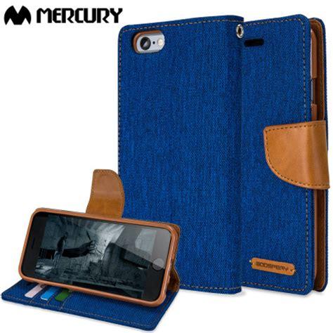 Canvas Diary Mercury Ori Iphone 6 Plus Bluecamel mercury canvas diary iphone 6s 6 wallet blue camel reviews