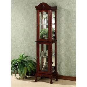 Ideas Design For Lighted Curio Cabinet Wakefield Carved Curio Cabinet Home Decor