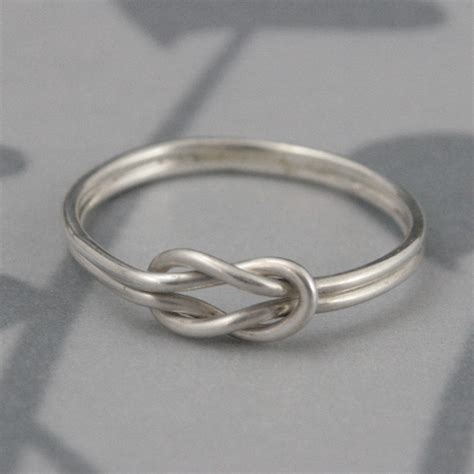 infinity knot knot ring in solid sterling silverdouble