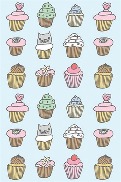 hd cupcake pattern cupcakes pattern iphone wallpaper hd