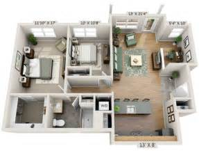 two bedroom study 3d floor plan net zero village 2 bedroom 2 bath apartment floor plans beautiful pictures