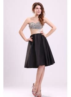 cute beaded sweetheart short black cocktail dresses
