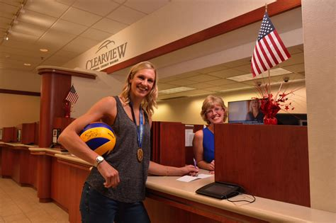 Forum Credit Union Employees olympian and clearview member christa harmotto dietzen