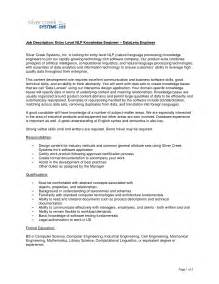 Cover Letter Sle Engineer by Resume Help For Engineers