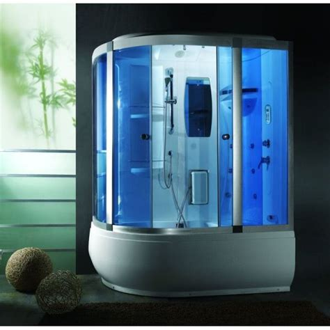 box doccia vasca idromassaggio cabina e vasca idromassaggio 165x100cm con cromoterapia vi