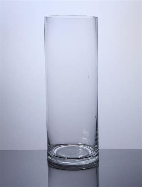 Cylindrical Glass Vases by Pc616 Cylinder Glass Vase 6 Quot X 16 Quot 6 P C Cylinder Glass