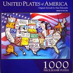 usa license plate map puzzle united plates of america