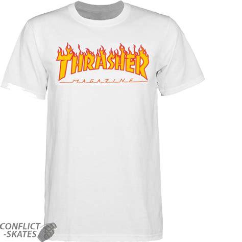 Tshirt Thrasher White thrasher magazine logo skateboard t shirt white s m