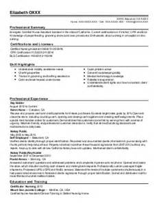 Patient Care Assistant Sle Resume by Patient Care Assistant Resume Exle Hospital For Special Surgery Bay Shore New York