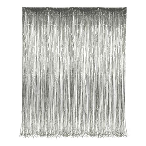 silver tinsel curtain the gallery for gt silver tinsel curtain