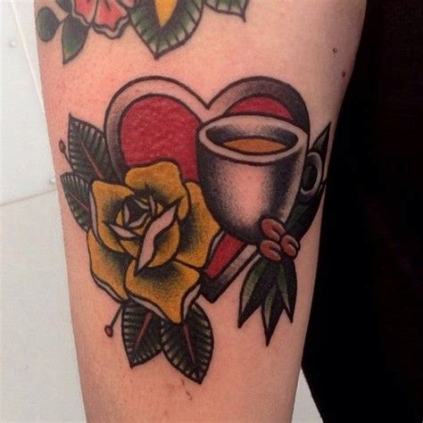 coffee cup tattoo coffee cup inked