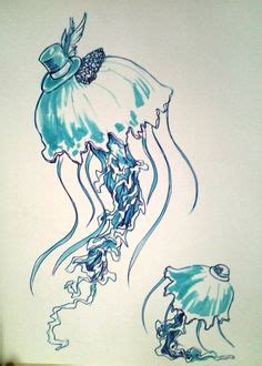 jelly doodle drawing jellyfish personal drawings