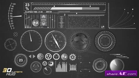 31 Hud Infographic Elements After Effects Project Videohive 187 Free After Effects Templates Hud After Effects Template