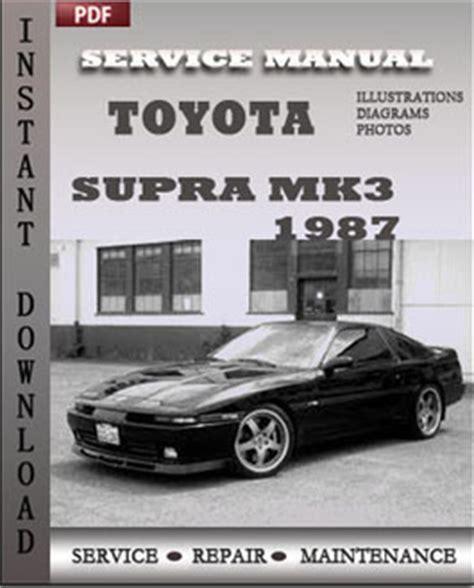 1993 toyota supra problems online manuals and repair information toyota supra mk3 1987 maintenance service repair manual download service manuals