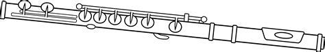 black and white flute design free clip art