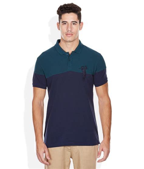 Polo T Shirt 1 bossini blue solid polo t shirt buy bossini blue solid