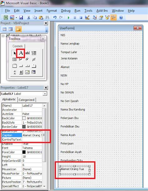 membuat form cari di excel cara membuat form sederhana dengan microsoft excel