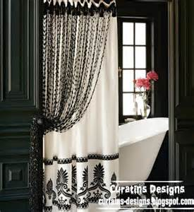 Black And White Bathroom Shower Curtain Black And White Shower Curtain For Modern Bathroom