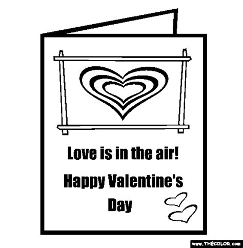 Valentine Card Coloring Pages Gt Gt Disney Coloring Pages Cards Coloring Pages