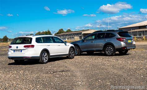 volkswagen vs subaru 2016 subaru outback vs volkswagen passat alltrack
