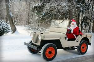 Jeep Santa My Santa Drives A Willys Jeep