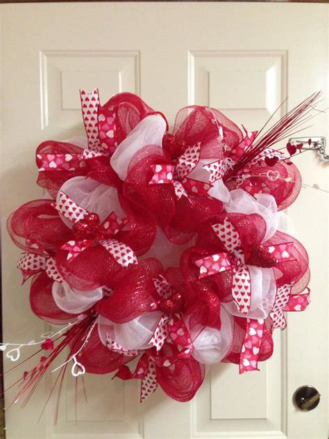 valentines mesh wreath s day deco mesh wreath with crafts