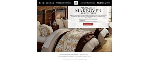 Pottery Barn Home Makeover Sweepstakes - pottery barn 25k home makeover sweepstakes