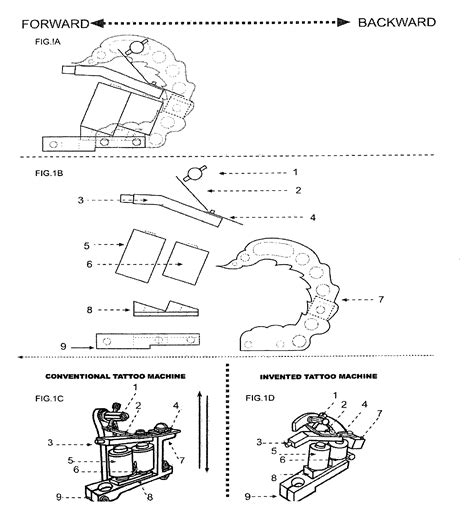 tattoo machine measurements patent us7908943 oblique tattoo machine google patents