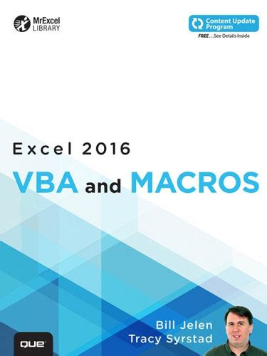 Vba And Macros For Microsoft Excel by Excel Tips Solutions Since 1998 Mrexcel Publishing