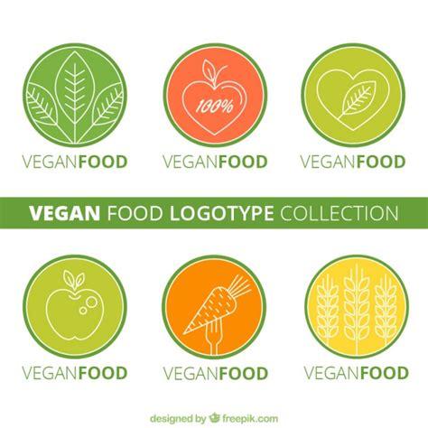 logotipos de cocina logotipos redondos de comida vegana descargar vectores