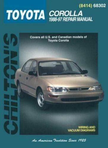 service manual how to fix 2000 toyota corolla valve repair leaking valve cover gaskets on chilton repair manual repair guide toyota corolla 1988 1997 diy book 801988276 ebay