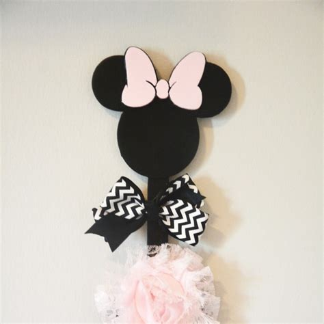 3d Hiding Mickey Dan Minni Mouse 3d printable minnie mouse bow holder by duncan smith