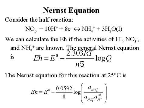 nernst equation exle nernst equation youtube nernst