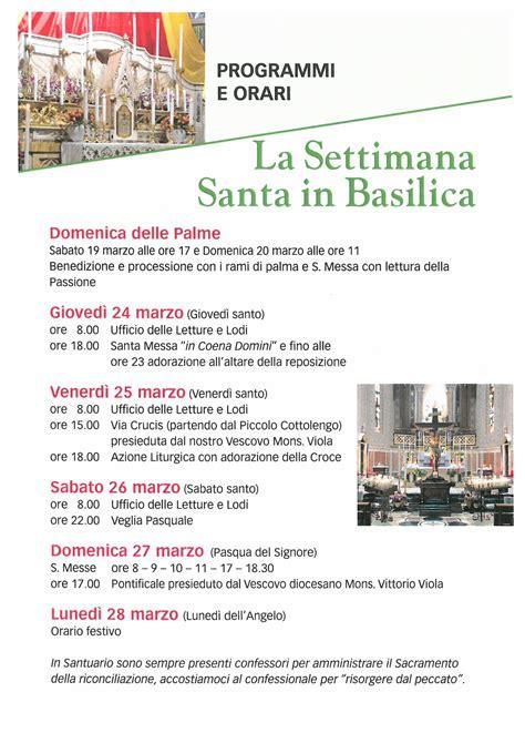 settimana santa 2016 orario celebrazioni notizie basilica santuario pagina 53