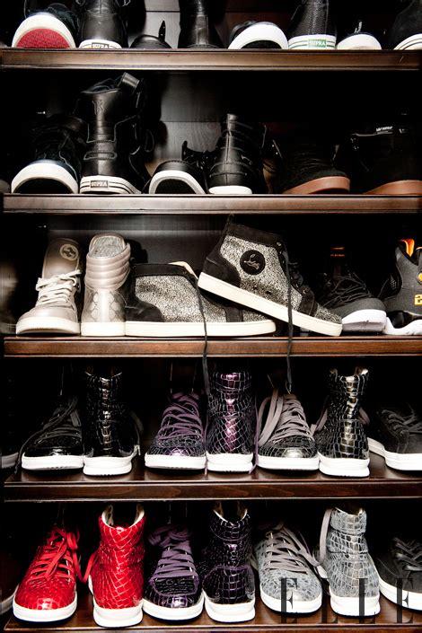 inside khole s shoe closet