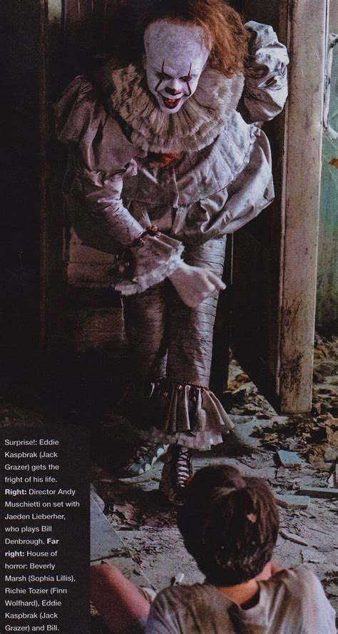 libro dancers behind the scenes new it movie images reveal more looks at pennywise the clown