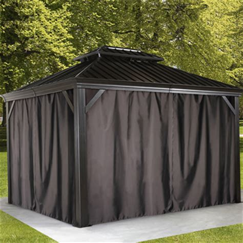 Houseofaura Com Gazebo With Privacy Curtains Privacy