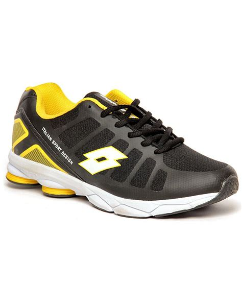 lotto athletic shoes lotto atlanta black yellow running shoes buy lotto