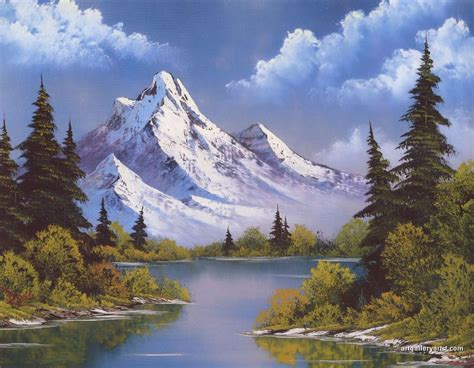 bob ross painting mountain ridge bob ross mountain waterfall pictures
