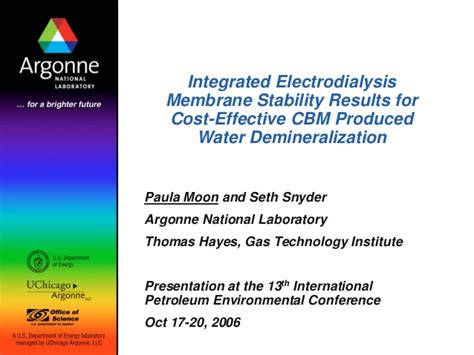 Mba Programs Cost Effective by Integrated Electrodialysis Membrane Stability Results For