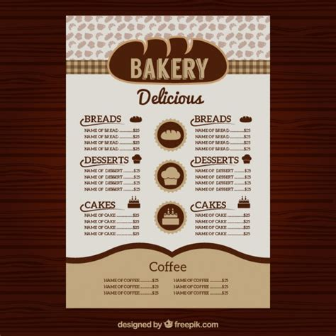 basic menu template 30 bakery menu template free psd ai indesign and eps