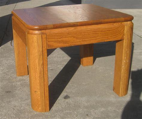 oak end table uhuru furniture collectibles sold pair of oak end