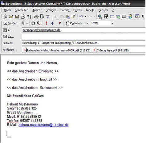 Praktikum Bewerbung Per Email Muster e mail bewerbungen versenden betreff bewerbungen